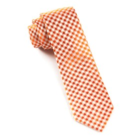 Checked Out Tangerine Ties
