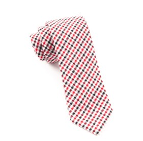 Montauk Seersucker Gingham Red Ties