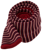 Ties - Knitted Piedmont Stripe - Red