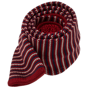knitted piedmont stripe red ties