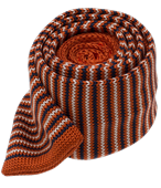Ties - Knitted Piedmont Stripe - Orange