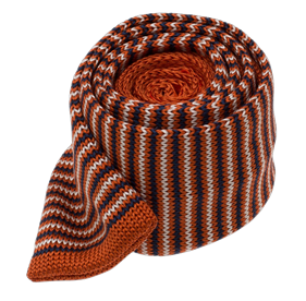 Knitted Piedmont Stripe Orange Ties