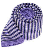 Ties - Knitted Piedmont Stripe - Lavender