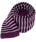 Ties - Knitted Piedmont Stripe - Purple