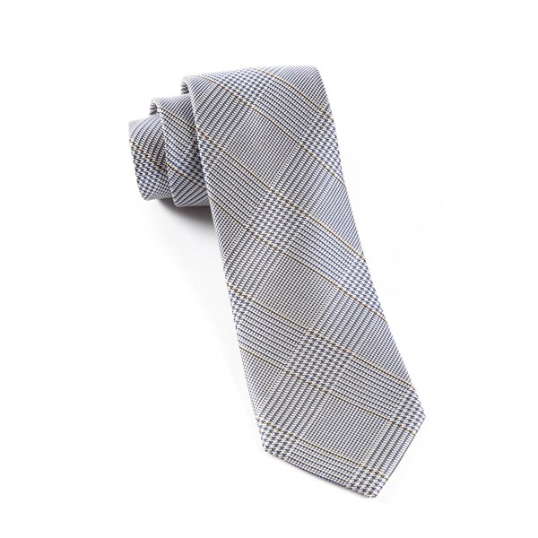 Grey Glen H. Plaid Tie