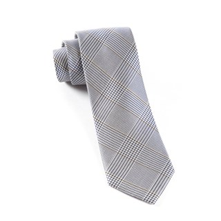 Glen H. Plaid Grey Tie