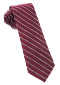 Ties - Laser Stripe - Burgundy