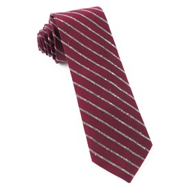 Burgundy Laser Stripe ties