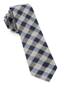 Ties - Splattered Gingham - Navy