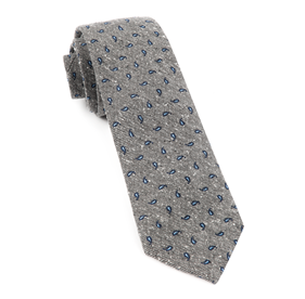 Navy Paisley Timber ties