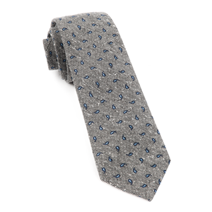 paisley timber grey ties