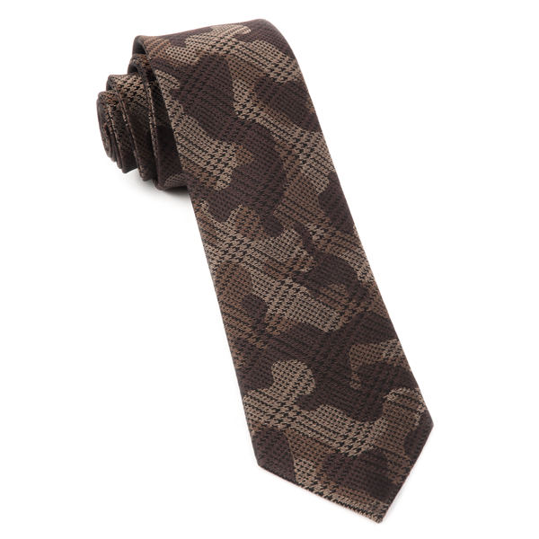 Brown Caliber Camo Tie