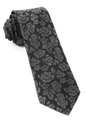 Ties - Intellect Paisley - Black