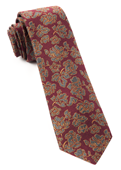 Ties - Intellect Paisley - Burgundy