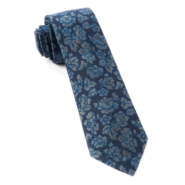 Navy Intellect Floral Tie