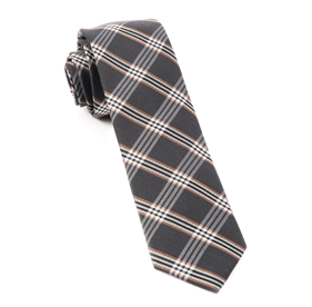 Wit Plaid Charcoal Ties