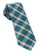 Ties - Wit Plaid - Teal