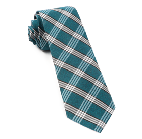 Teal Wit Plaid ties