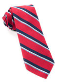 Ties - 918 Stripe - Red