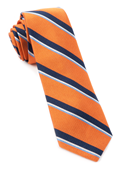 Ties - 918 Stripe - Tangerine
