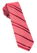 Ties - Wool Path Stripe - Red