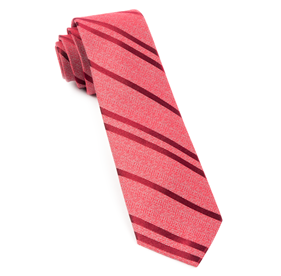 Red Wool Path Stripe ties
