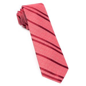 wool path stripe red ties