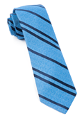 Ties - Wool Path Stripe - Blue