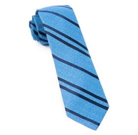 Wool Path Stripe Blue Ties