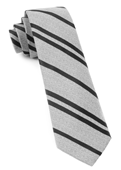 Ties - Wool Path Stripe - Silver