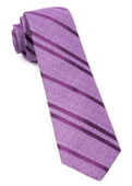 Ties - Wool Path Stripe - Purple