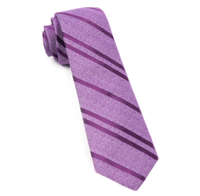 Wool Path Stripe Purple Ties