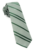 Ties - Wool Path Stripe - Moss Green