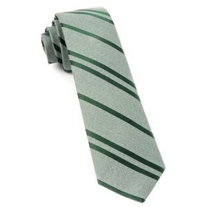 wool path stripe moss green ties