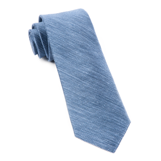 festival textured solid slate blue ties