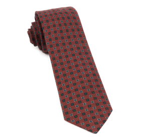 Burnt Orange Medallion Medley ties