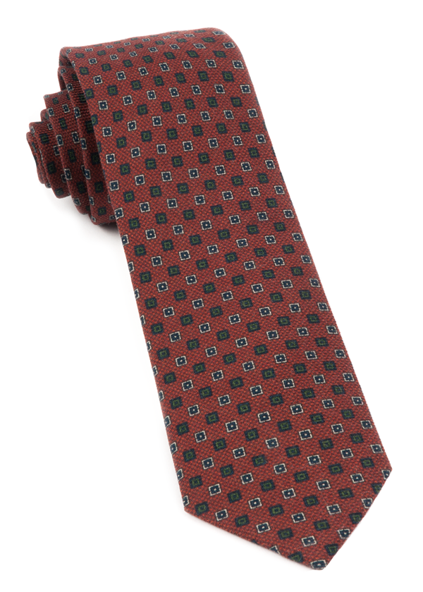 Medallion Medley Burnt Orange Tie