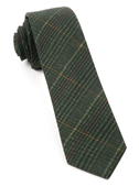 Ties - Wiseacre Wool Plaid - Dark Clover Green