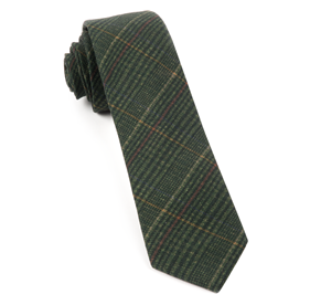 Dark Clover Green Wiseacre Wool Plaid ties