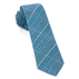 Light Blue Wiseacre Wool Plaid Tie