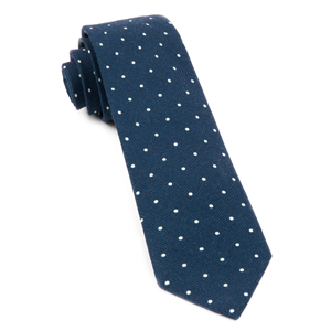 primary dot navy ties