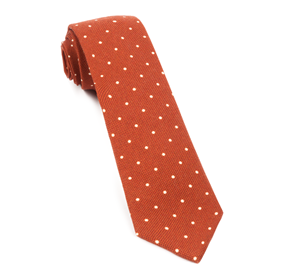 Primary Dot Burnt Orange Ties