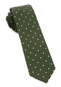 Ties - Primary Dot - Dark Clover Green