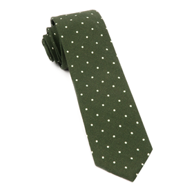 Dark Clover Green Primary Dot ties
