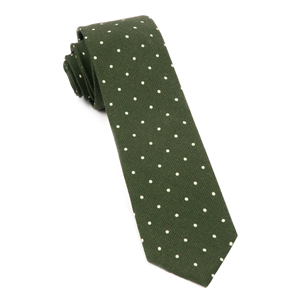 primary dot dark clover green ties