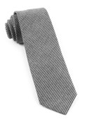 Ties - Small Saxony Check - Black