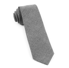 Small Saxony Check Black Ties
