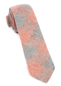 Ties - Printed Flannel Checks - Orange
