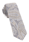 Ties - Printed Flannel Paisley - Navy