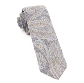 Navy Printed Flannel Paisley ties